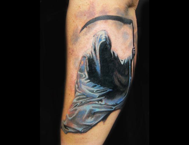 Grim Reaper  Scythe  Horror  Forearm Color