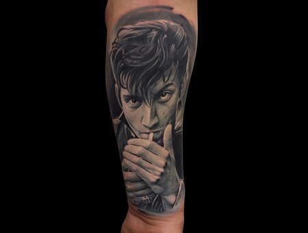 Turner Portrait Black Grey Forearm
