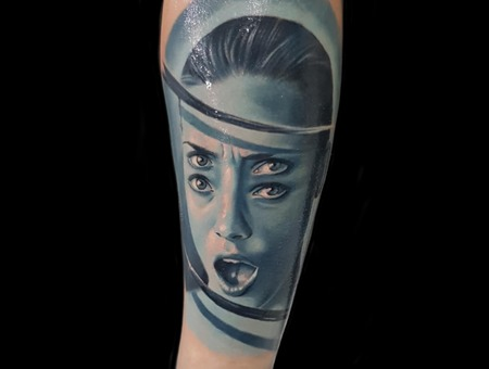 Abstract Portrait Color Forearm