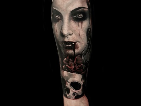 Horror Portrait Color Forearm