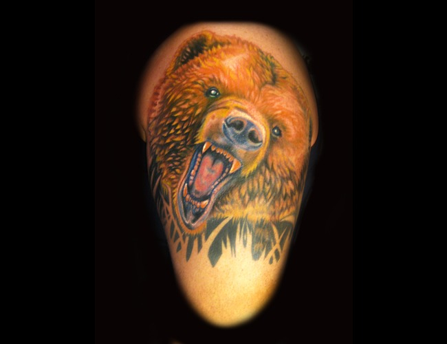 Bear  Roaring Bear  Color  Half Sleeve  Color