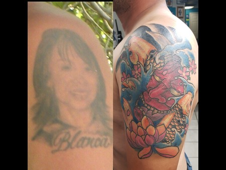 Cover  Up  Hanya  Koi  Water  Japanese   Traditional   Neo  Portrait Color Arm