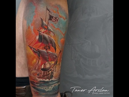 Ship  Pirate Color Lower Leg