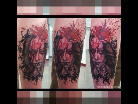 Horror Realism Trash Polka Abstract Color