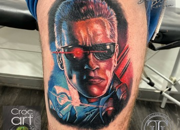 Portrait, terminator, color portrait.