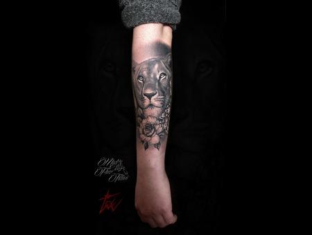 Lion Tattoo Mandala Black Work Black And Grey Tattoo Black Grey