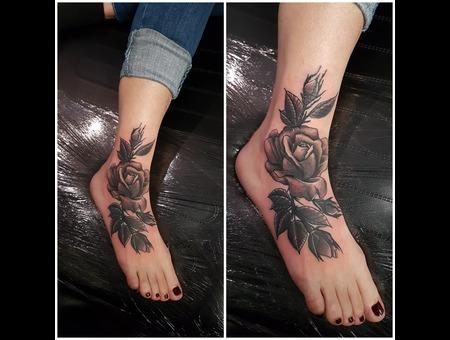 Black Grey Foot