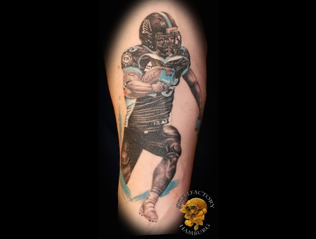 Realistic  Football Color Forearm