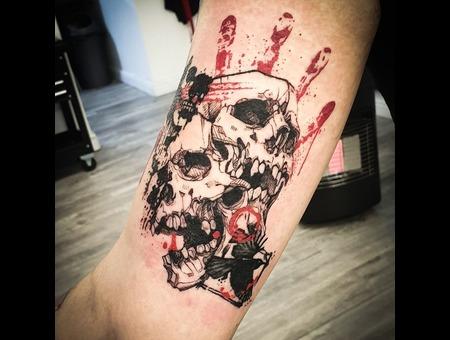 Skulls  Trash Polk Tattoo  Color Arm