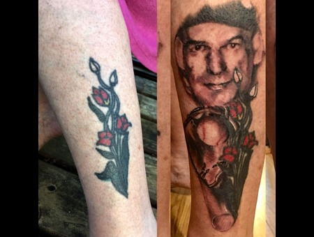 Portrait  Cover Up  Add On   Black Grey Lower Leg
