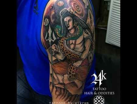 Shiva Lordshiva Tattoosbyvikram  Hyderabad Tattoo  Color Arm