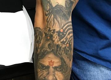 Rudra and Shiva, Shiva healed sleeve,aghora, Shiva tattoo, tattoosbyvikram