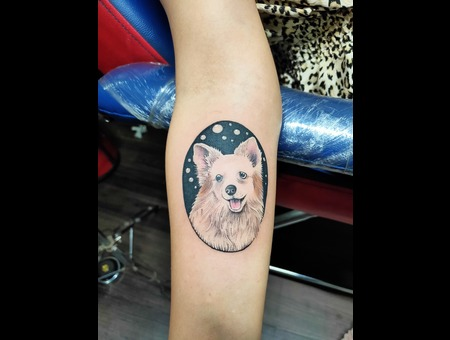 Dog Portrait  Dog Tattoo  Furry Baby  Tattoosbyvikram Color Forearm