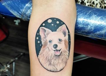 Dog portrait, dog tattoo, furry baby, tattoosbyvikram