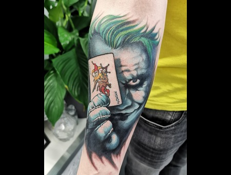 Joker  Realism  Portrait Color Forearm