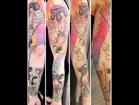 Sleeve  Animals  Farm  Realism Color Arm
