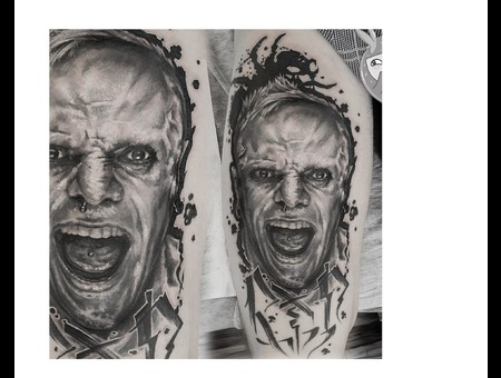Portrait  Keith Flint Color Hip