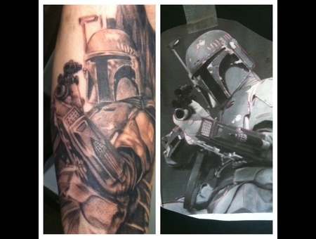 Bobbafett  Star Wars Black White