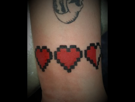 Life Hearts  Gaming  Video Games  Small   Color Arm