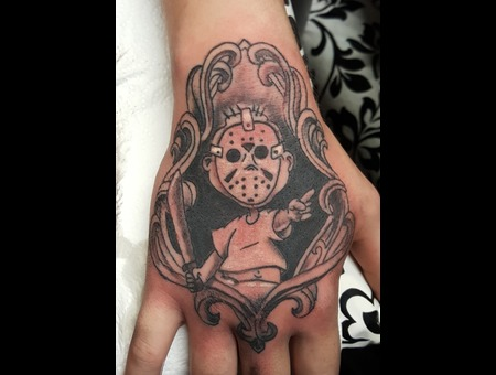 Hand  Tommy  Rugrats  Jason  Horror  Cartoon   Black Grey Forearm