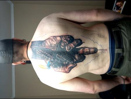 Back Tattoo  Tattoo Machine  Hand Tattoo   Black Grey Back