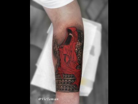 Crimson King Stephen King God Death Goth Gothic Skulls Book Dark Tower Dark Color Forearm