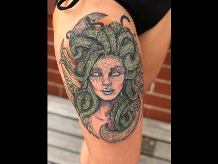 Medusa   Snake  Color Thigh