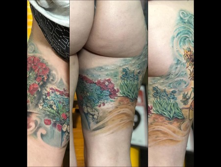 Art  Flowers  Painting  Color Thigh