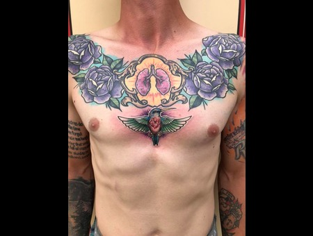 Lungs  Roses  Traditional  Color Chest