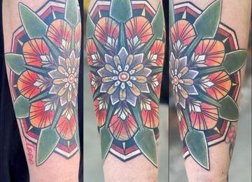 cover, mandala , flower , neo