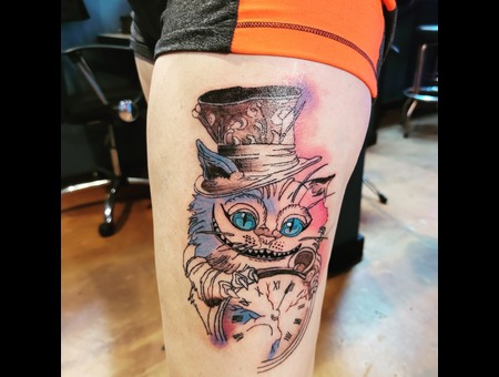 Watercolor  Cheshire Cat  Cat  Color Color Thigh