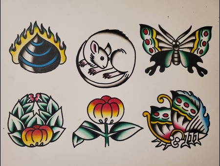 Flash Sheet  American Traditional  Traditional Color