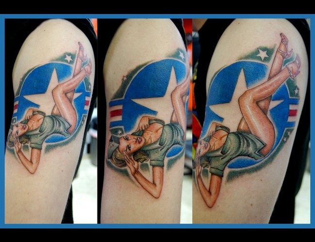 Pinup  Airforce Color Arm