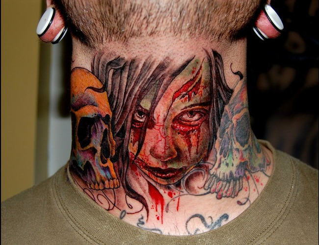 Zombie  Throat Color Neck
