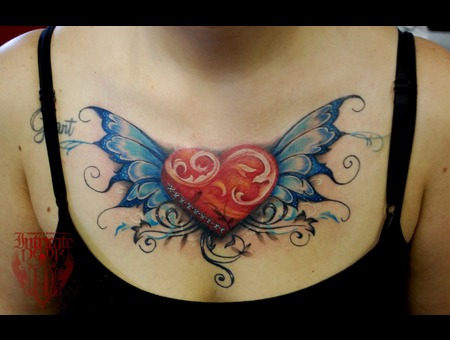 Heart  Filigree  Chest  Womens Color