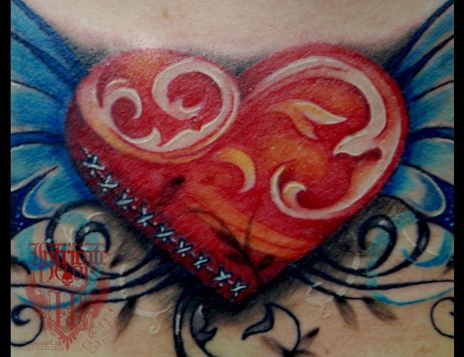 Heart  Filigree Color