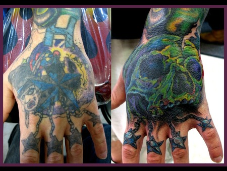 Cover Up  Skull  Hand Color