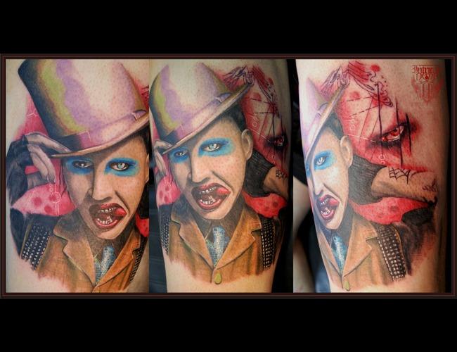 Portrait  Color  Marilyn Manson Color Thigh