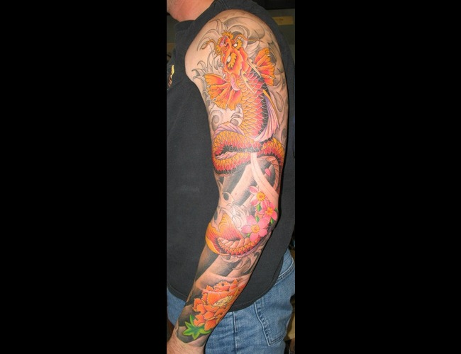 Koi Dragon  Oriental Color Arm