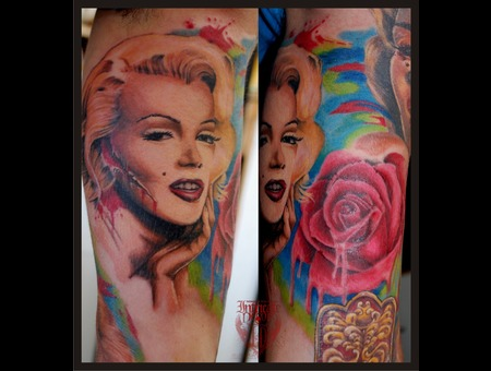 Portrait  Marilyn Monroe Color Arm