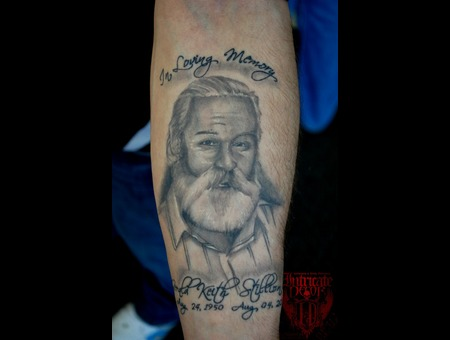 Portrait Black White Forearm