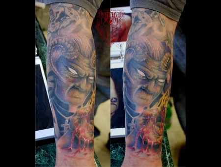 Demon  Priest Black Grey Arm