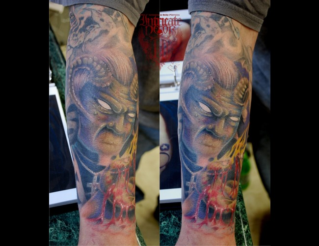 Demon  Priest Black Grey Arm