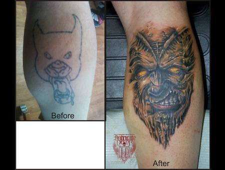 Cover Up  Demon Color Lower Leg