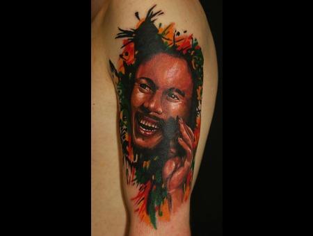 Bob Marley  Portrait Color Arm