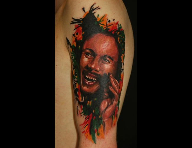 Bob Marley  Portrait Color Arm