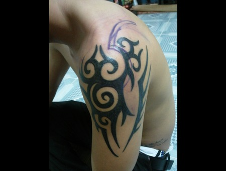 Tribal Tattoo  Cover Tattoo Black White