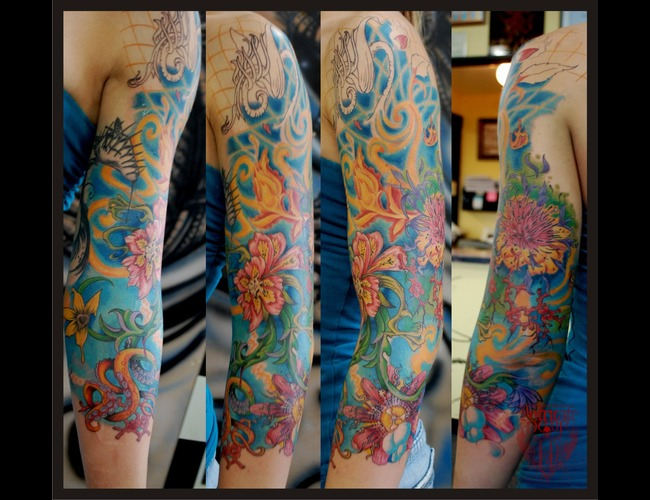Flowers  Sleeve  Surreal Color Arm