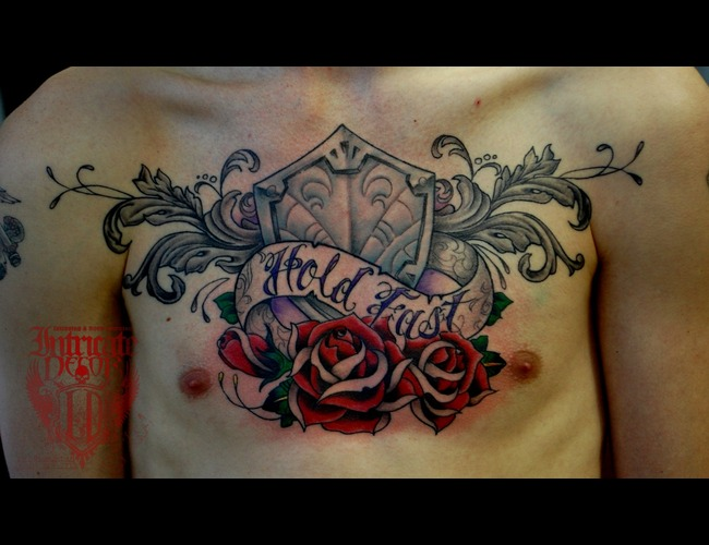 Chest  Piece  Roses  Shield Color Chest