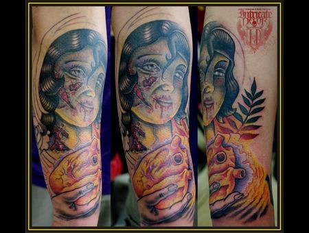 Girl  Heart Color Arm